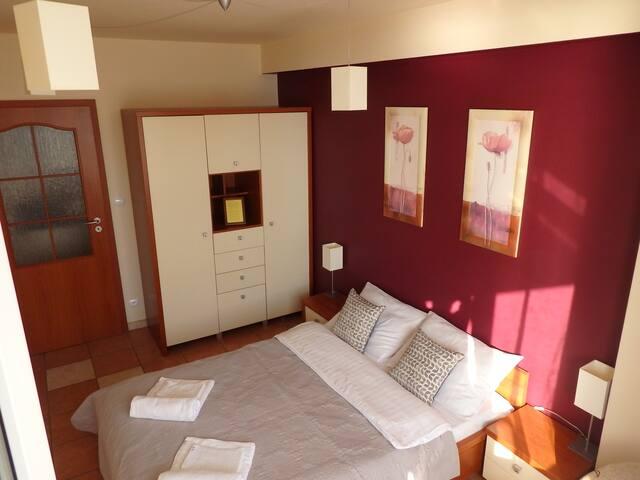 Slavia apartament - sypialnia dla 2 osób