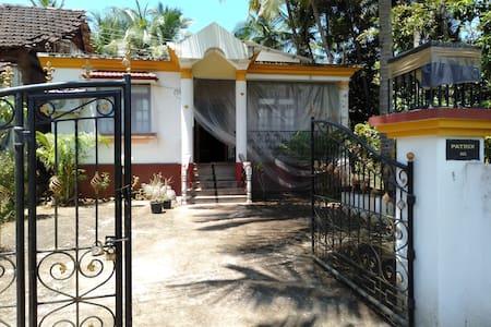 Cozy PATRIX House at Galgibaga Beach,Goa