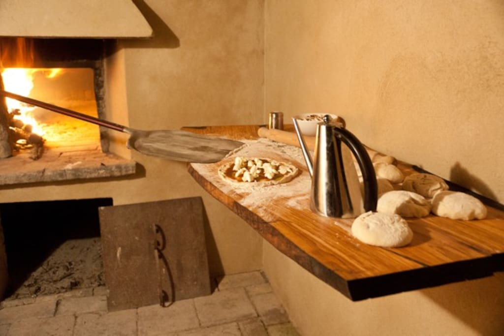 brick-oven for pizza and bread