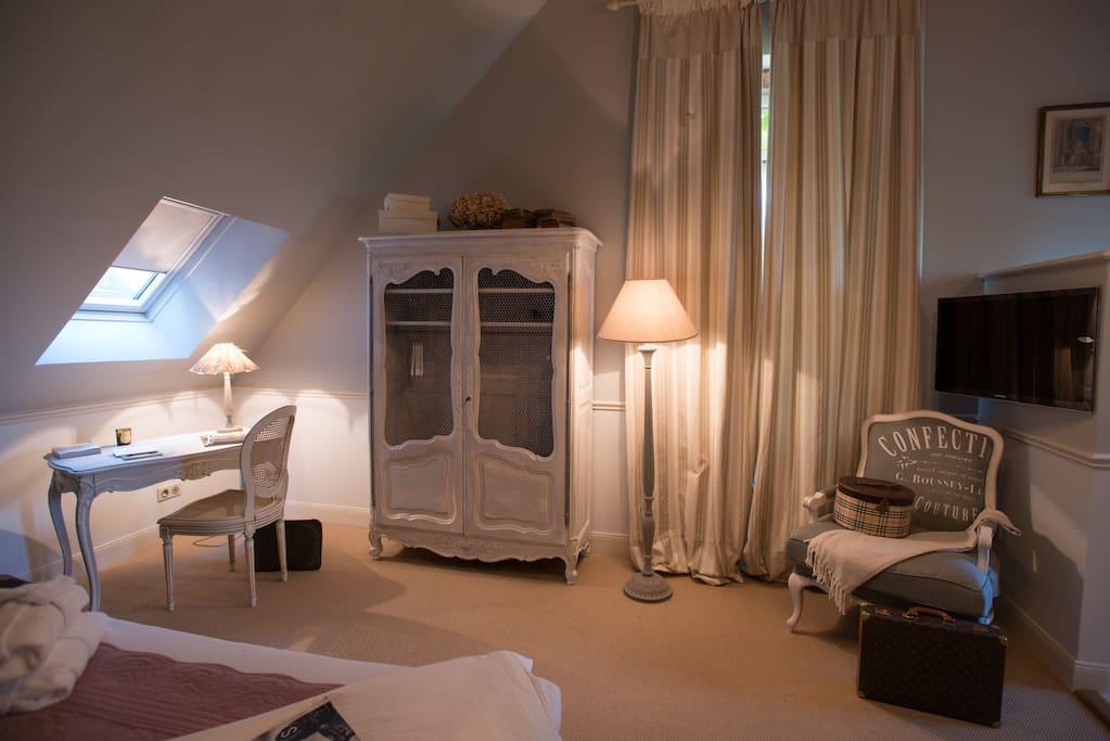 Pavillon le Pascalon - La chambre à l'étage