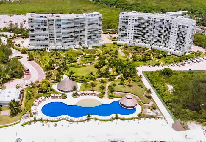 The condo from the air