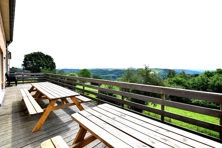Stylish holiday home nearby Dinant with a magnificent view across the Meuse valley