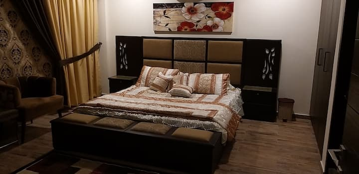 One Bedroom fully furnished suite with TV lounge