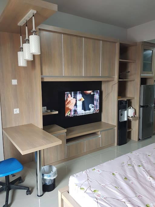 "Full furnished with 46"" LED TV"
