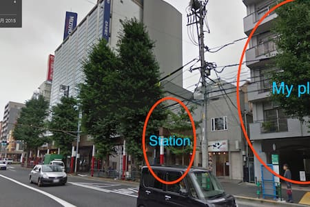 「0」minute from Station to my apartment^^ - Shinjuku