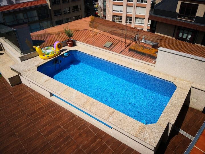 Ático con piscina climatizada céntrico