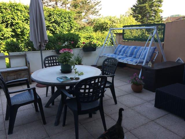 Duplex avec terrasse à 2 pas du centre ville - Lons-le-Saunier - Apartment