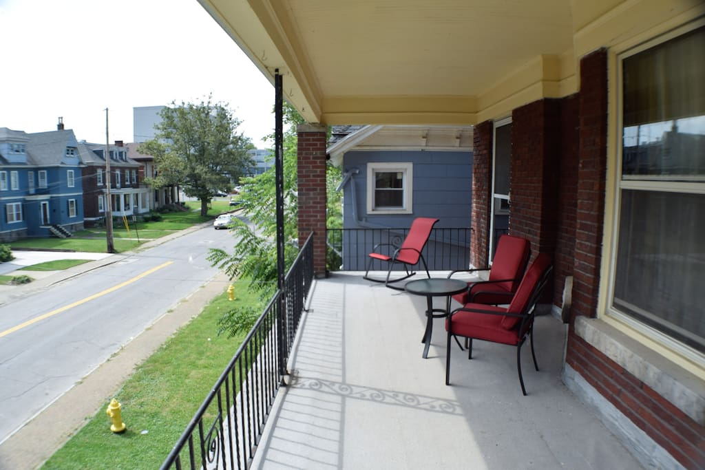 balcony with entrance from the living room