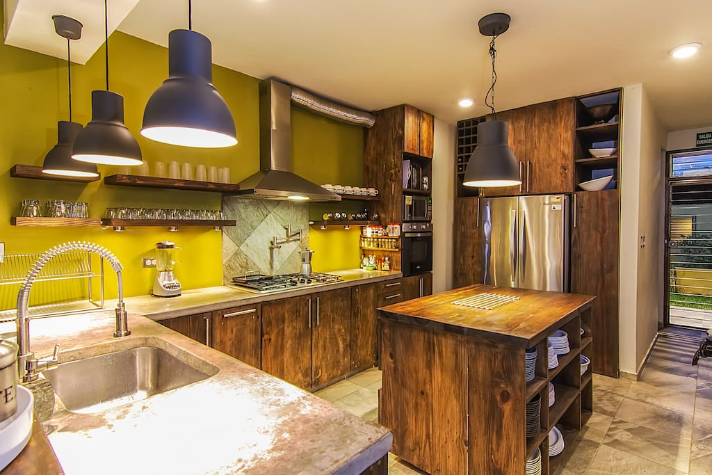 Fully equipped kitchen with complimentary coffee bar