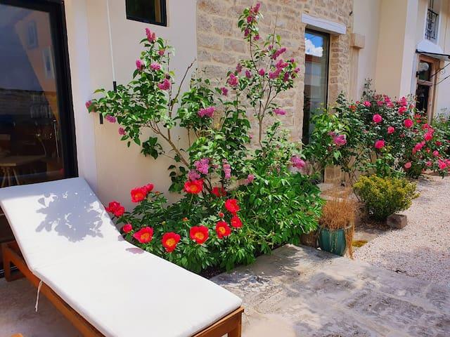 Jolie chambre et petit déj dans village viticole