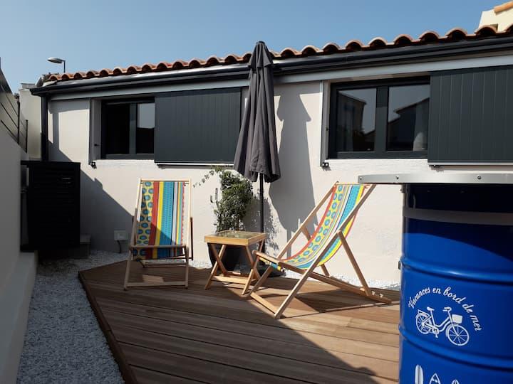 Studio Le Courlis proche Port Olonna