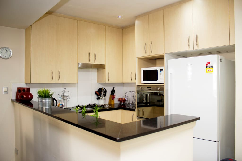 Kitchen, including dishwasher, microwave, toaster, kettle etc.