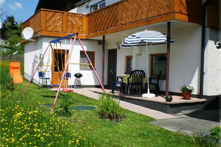 A ground floor, four-person holiday accommodation near the Alps.