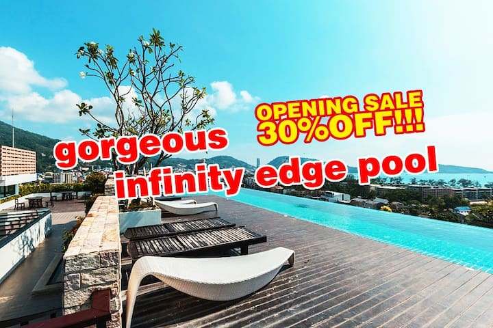 Perfect Ocean view★500m on foot to Patong beach