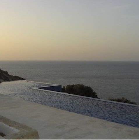 Infinity,  pool with serene sea view and sunsets