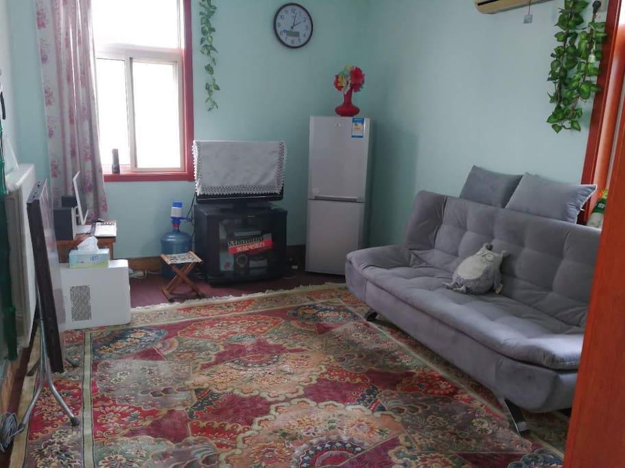宽敞的客厅及沙发床