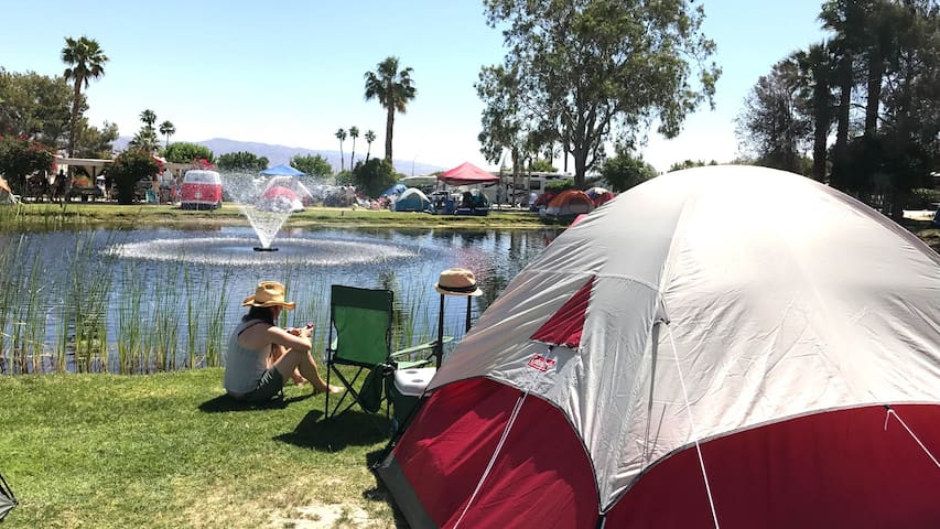 Coachella Glamping Pond Tent Site for 1, site 3