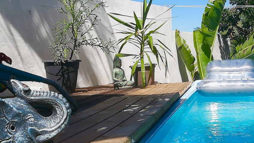 Appt 40m2 clim indpt rez jardin villa