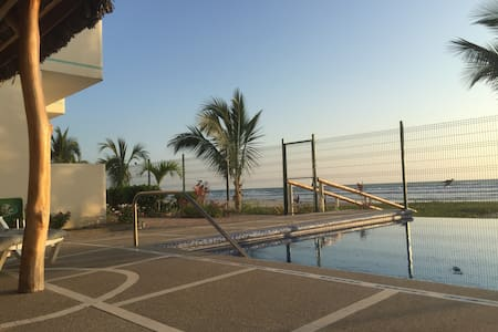 LOVELY BEACHFRONT APARTMENT ( CANOA / BRICEÑO)