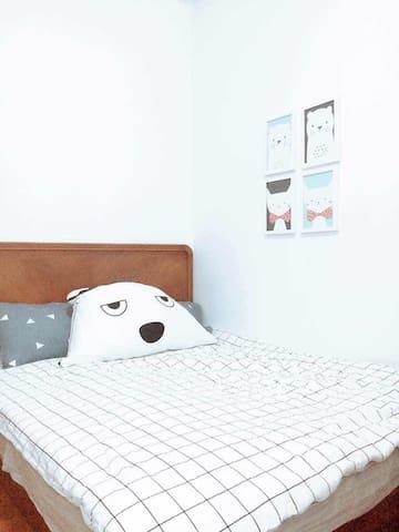 欧式小清新 星星大床房 毗邻厦门大学 双子塔 沙坡尾 中山路 鹭江大道 - Xiamen - Appartement
