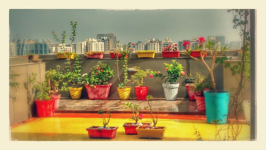 Homestay wid Private Terrace Garden - Ahmedabad - Apartment