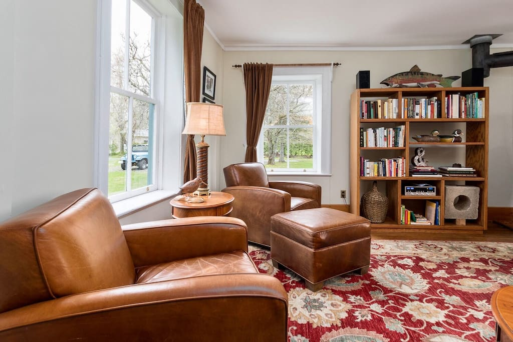 Relax in the leather club chairs and read a book or have an after dinner drink.