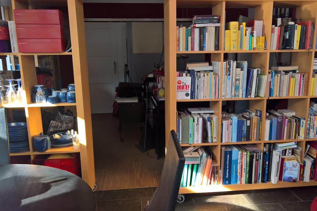 Mein Büro vom Gästezimmer aus gesehen