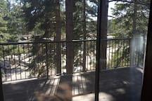 View out slider door