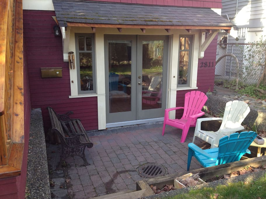 cozy south facing patio