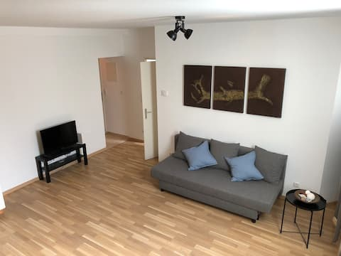 2 Room Apartment in cosy Souterrain 4 min to metro