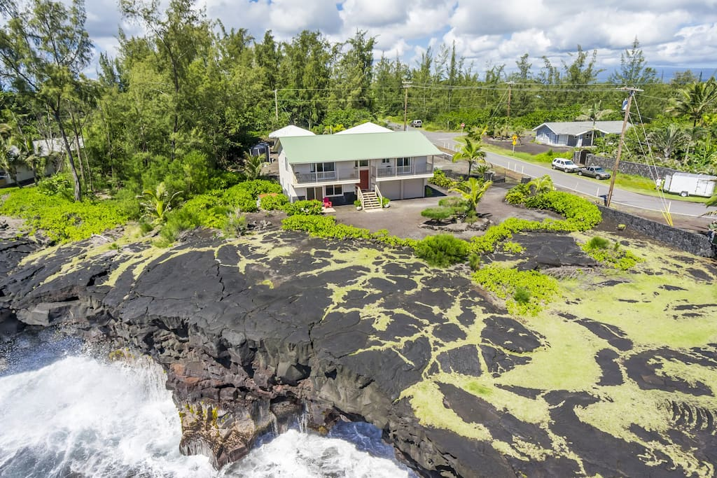 Mele Kohola sits at the ocean's edge in the beautiful Puna district just south of Hilo