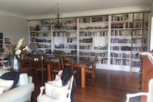 A wonderful library of books to look through on your stay