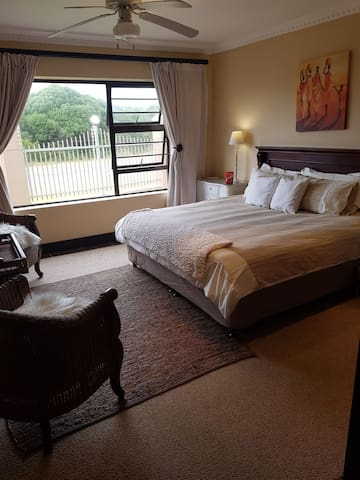 Generously sized Bedroom with a King sized bed...