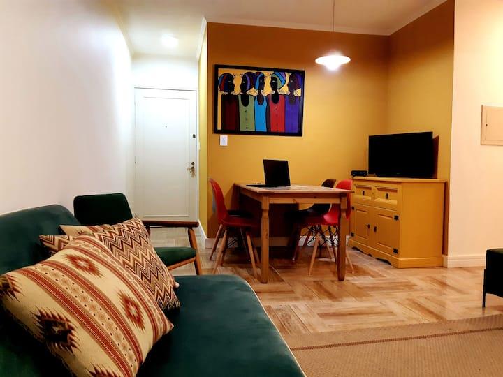 Mobília nova, climatização perfeita, e bela vista