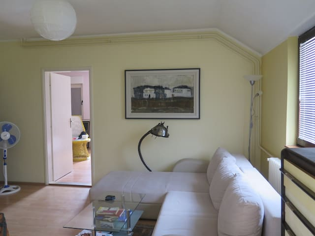 Cozy 2BR flat @10 min cab ride to the city center