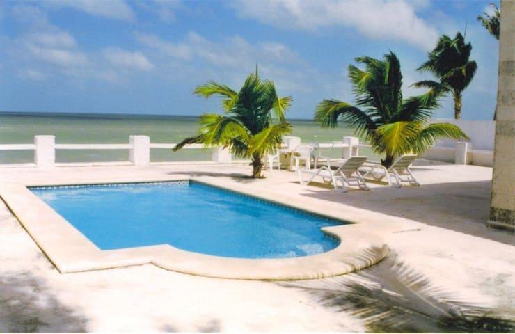 Beautiful Beach Front Villa, 4 BR, 8 Sleep