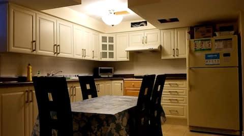 Basement kitchen.