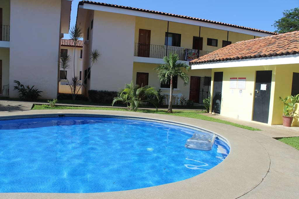 Condo is middle unit with patio furniture, that close to the pool!