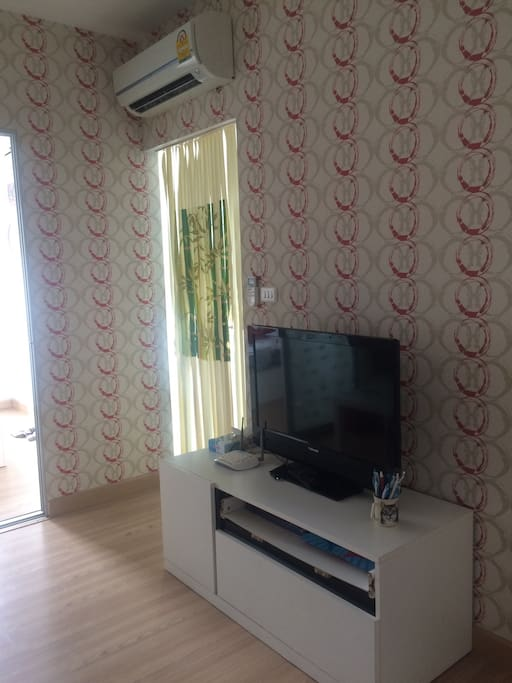 Have wifi , tv in living room and air condition