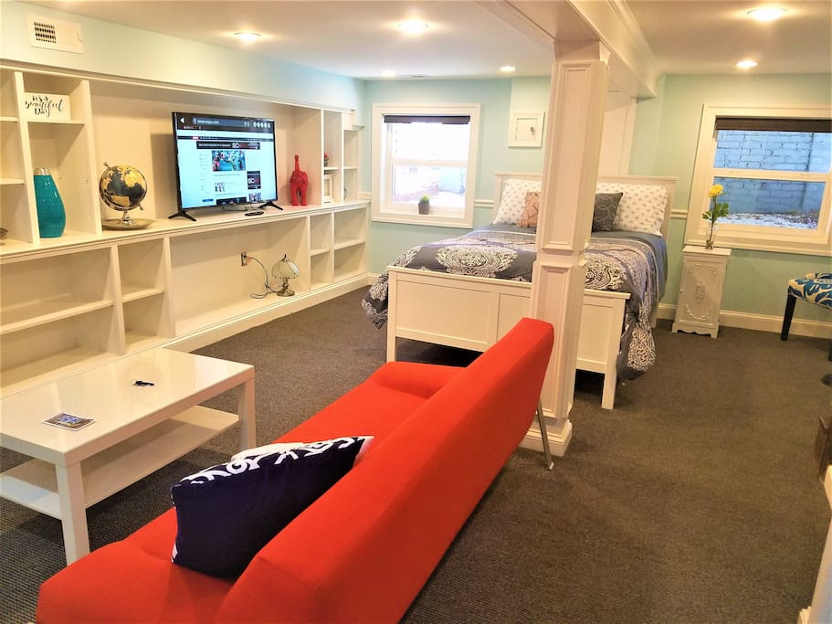 Open, spacious living space