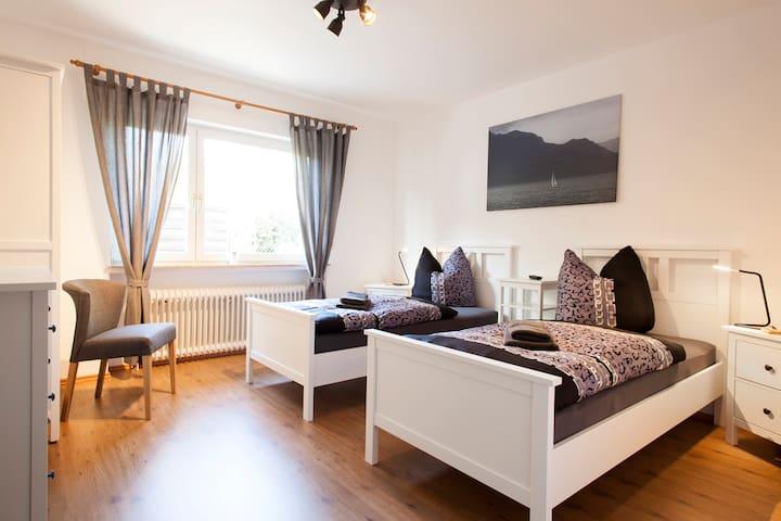 Doppelzimmer EG mit Einzelbetten