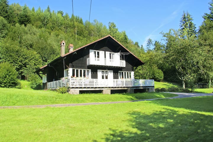 Chalet with warm interior at the edge of forest with space and privacy in fascinating area
