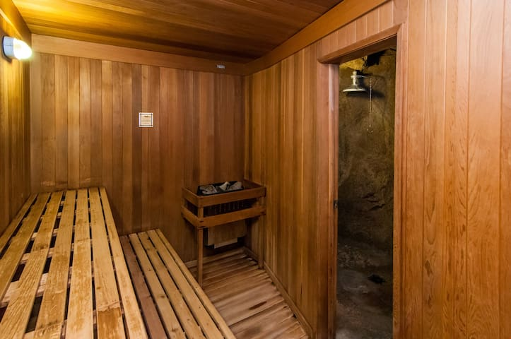 Warm up in the lovely sauna!