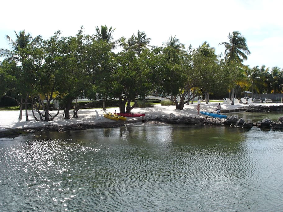 White Sand Beach Area for Kayaks, Stand-Up Paddle Boards, Jet Skis and Swimming