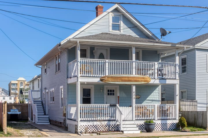 Two-story home near beach w/ furnished decks - dogs welcome!