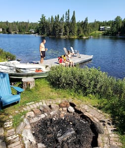 Cottage on Lake with a Dock & Fire-pit.