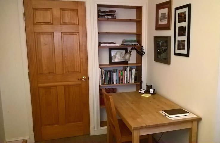 Desk / work table in bedroom.