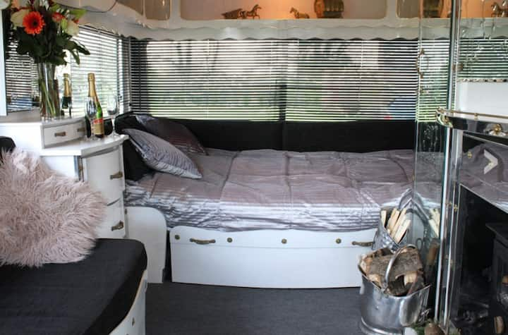 Exeter luxury vintage caravan! Amazing view.. (#1)
