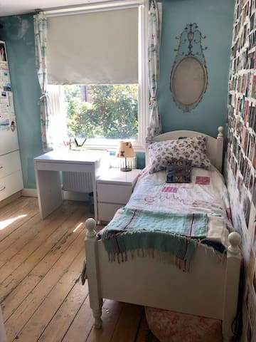 Pretty and light bedroom in beautiful house