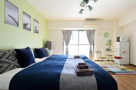 A1901/3pp/10min to Namba/shopping&meals/wifi/301
